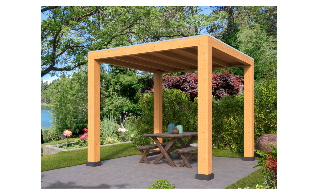 Overkapping Renesse Red Class Wood DHZ bouw 400x313cm