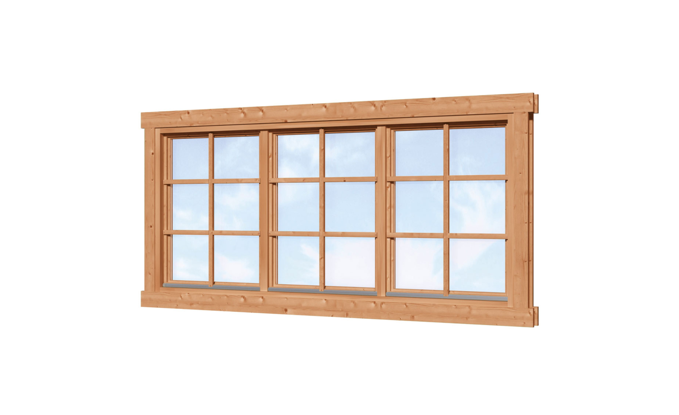 Driedelig draai kiepraam 212x96.6cm Red Class Wood