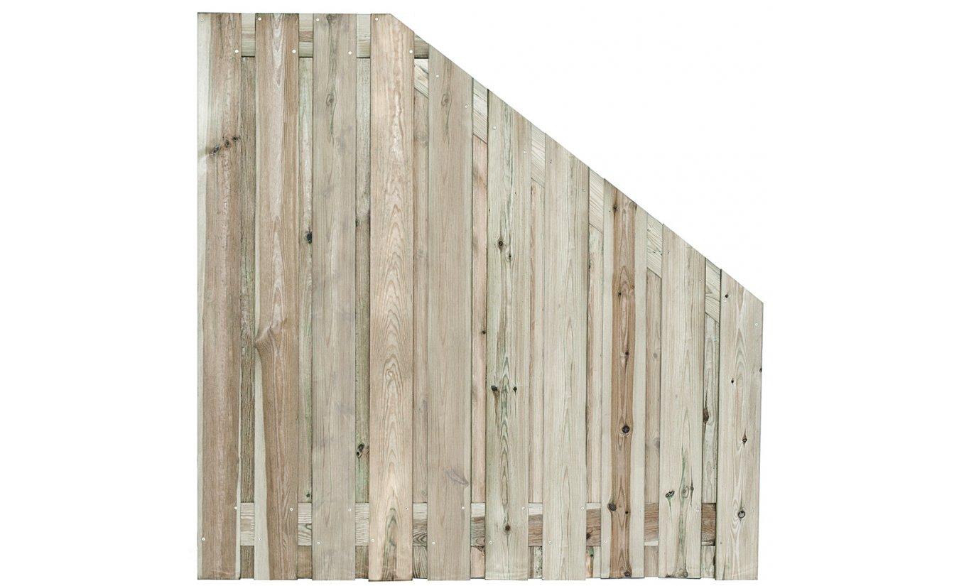Tuinscherm verloop geimpregneerd 21-planks 180x180cm
