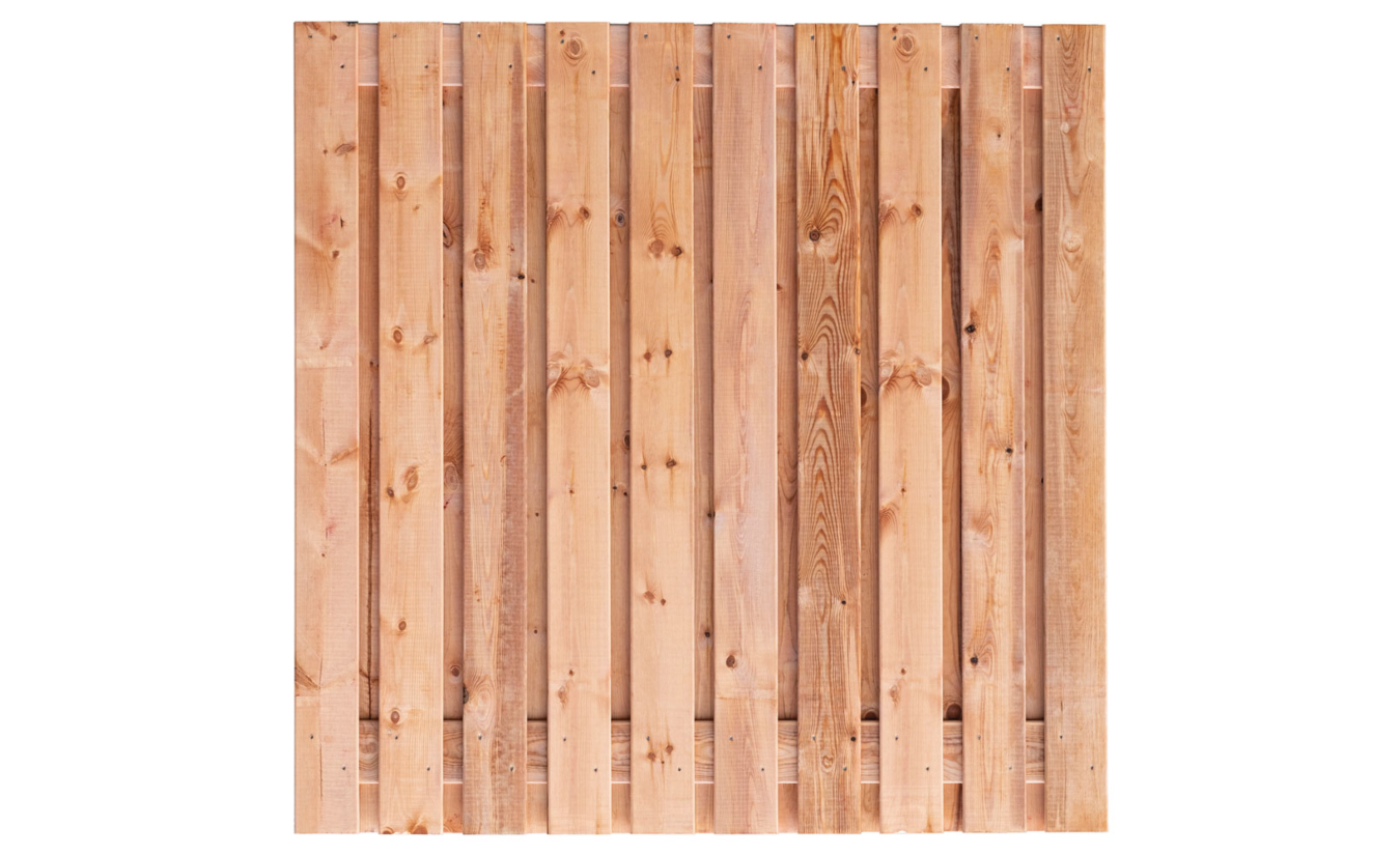 Tuinscherm Casablanca Red Class Wood 21-planks 180x180 cm